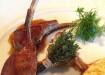 Côtelettes d'agneau marinées au sel de citron et romarin
