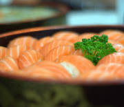 Sushis rapide de saumon poivrés