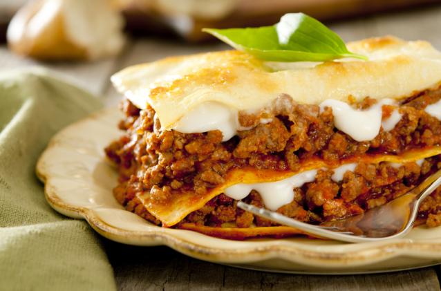 Les lasagnes à la sauce bolognaise